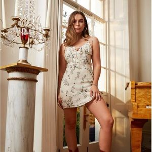 Nasty Gal Floral Cupped Dress - Size US 6